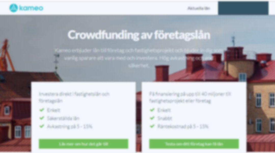 Crowdfunding med Kameo